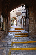 Jaffa Photos - Narrow Old Style Street by Jeremy Woodhouse