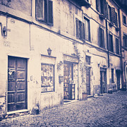 Old Houses Prints - narrow street in Rome Print by Joana Kruse
