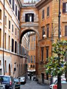 Rome Photos - Narrow Street in Rome by Marion McCristall
