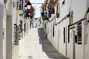 Communities Posters - Narrow Street in White Town of Altea Poster by Jeremy Woodhouse