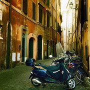 Motor Photo Posters - narrow streets in Rome Poster by Joana Kruse