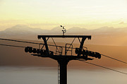 Overhead Prints - Narvikfjellet Cable Car In Narvik, Norway Print by Anjci (c) All Rights Reserved