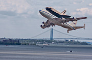 Bridge Prints - NASA Enterprise Space Shuttle Print by Susan Candelario