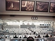 Control Room Photo Posters - Nasa Launch Control During Apollo 8 Poster by Everett