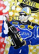 All-star Painting Prints - Nascar Mark Martin Print by Lesley Giles