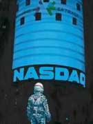Science Fiction Painting Acrylic Prints - Nasdaq Acrylic Print by Scott Listfield