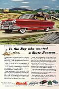 Nash Ambassador 1953 Print by Nomad Art And  Design