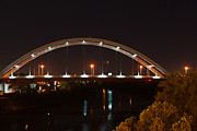 Nashville Tennessee Posters - Nashville Bridge By Night Poster by Douglas Barnett