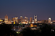 Downtown Nashville Metal Prints - Nashville Cityscape 1 Metal Print by Douglas Barnett