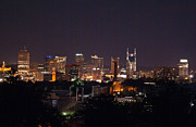 Downtown Nashville Metal Prints - Nashville Cityscape 2 Metal Print by Douglas Barnett