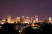 Downtown Nashville Framed Prints - Nashville Cityscape 3 Framed Print by Douglas Barnett