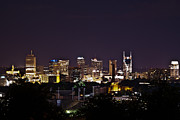 Downtown Nashville Framed Prints - Nashville Cityscape 4 Framed Print by Douglas Barnett
