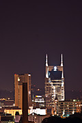 Downtown Nashville Framed Prints - Nashville Cityscape 6 Framed Print by Douglas Barnett