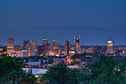 Downtown Nashville Metal Prints - Nashville Cityscape 7 Metal Print by Douglas Barnett