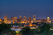 Downtown Nashville Metal Prints - Nashville Cityscape 8 Metal Print by Douglas Barnett