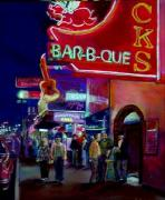 Nashville Tennessee Paintings - Nashville Neon by George Grace