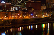 Nashville Tennessee Prints - Nashville River Front by Night 1 Print by Douglas Barnett