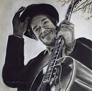 Bob Drawings - Nashville Skyline - Dylan by Eric Dee