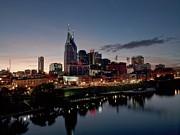 Nashville Skyline And The Cumberland Print by Everett