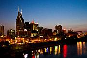 Nashville Skyline Print by Elizabeth Wilson
