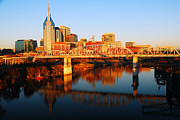 James Kirkikis Posters - Nashville Skyline Poster by James Kirkikis
