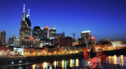 Nashville Downtown Posters - Nashville Skyline Poster by Giffin Photography