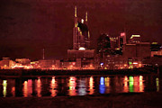 Nashville Skyline Art - Nashville Skyline by LeAnne Thomas