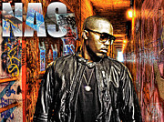 Photo Manipulation Metal Prints - Nasir Jones Metal Print by The DigArtisT