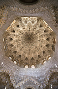 Arabic Posters - Nasrid Palace ceiling Poster by Jane Rix