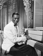 Cole Photo Framed Prints - Nat King Cole (1919-1965) Framed Print by Granger