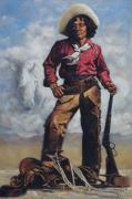 Historical Painting Originals - Nat Love - aka - Deadwood Dick by Harvie Brown