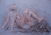 Nudes Drawings Originals - Natalie by Jammie Williams