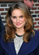 Curled Hair Prints - Natalie Portman At A Public Appearance Print by Everett