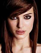 Natalie Portman Prints - Natalie Portman Print by Kyle Walker