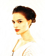 2011 Prints - Natalie Portman Pastel Print by Stefan Kuhn