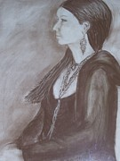 Jewelry Drawings Originals - Natasha II by Bonita Bruch