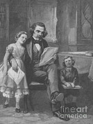Scarlet Letter Posters - Nathaniel Hawthorne, American Author Poster by Photo Researchers
