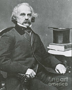 Romantic Movement Prints - Nathaniel Hawthorne, American Author Print by Science Source