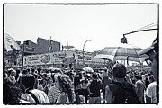 Parachute Jump Prints - Nathans Crowd in Coney Island 1 Print by Madeline Ellis