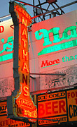 Anahi Decanio Mixed Media - Nathans Famous Neon Sign by Anahi DeCanio