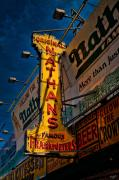 Nathans Sign Posters - Nathans Famous Original Frankfurters  Poster by Chris Lord