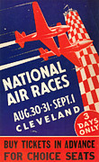 Cleveland Framed Prints - National Air Race Poster Framed Print by Granger