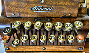 Register Framed Prints - National Cash Register in wood Framed Print by Paul Ward