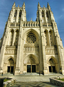 Religion Acrylic Prints Prints - National Cathedral III Print by Steven Ainsworth