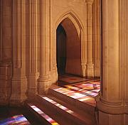 Steps Prints - National Cathedral Steps in Washington DC Print by Carol M Highsmith