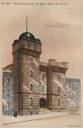 Victorian Buildings Paintings - National Guard Armory on Ellis Street San Francisco California by Charles Mitchell