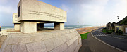 Omaha Prints - National Guard Monument Omaha Beach Print by Jan Faul