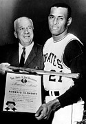 Roberto Clemente Photo Prints - National League President Warren Giles Print by Everett