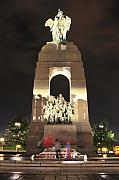 Ghostly Framed Prints - National War Memorial at Night Framed Print by Joe  Ng