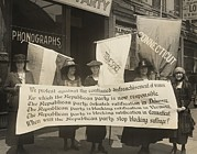 Rights Prints - National Womens Party Members Picketing Print by Everett